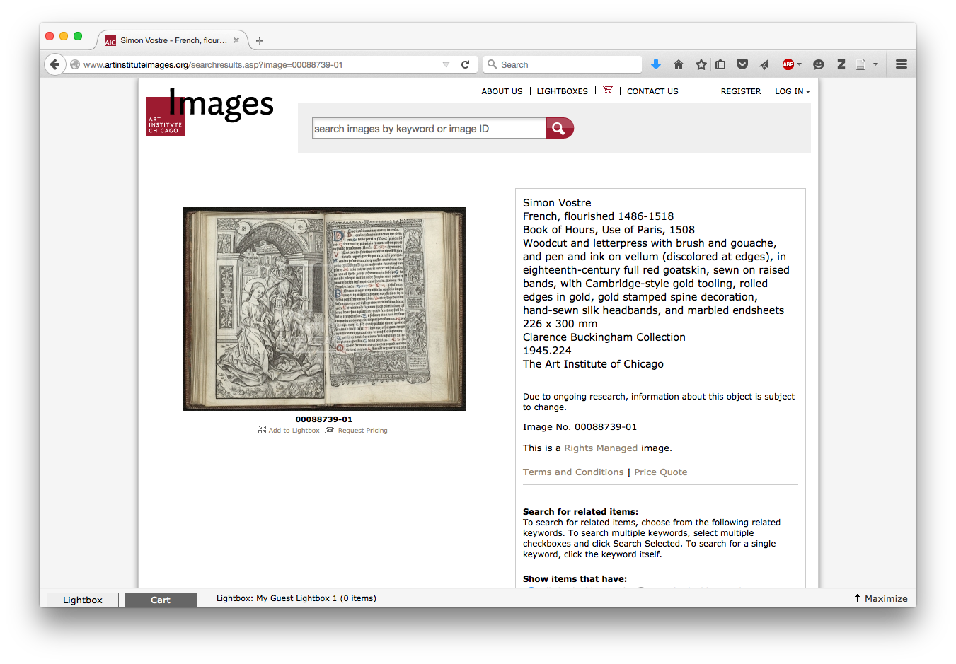 Art Institute Licensing Page