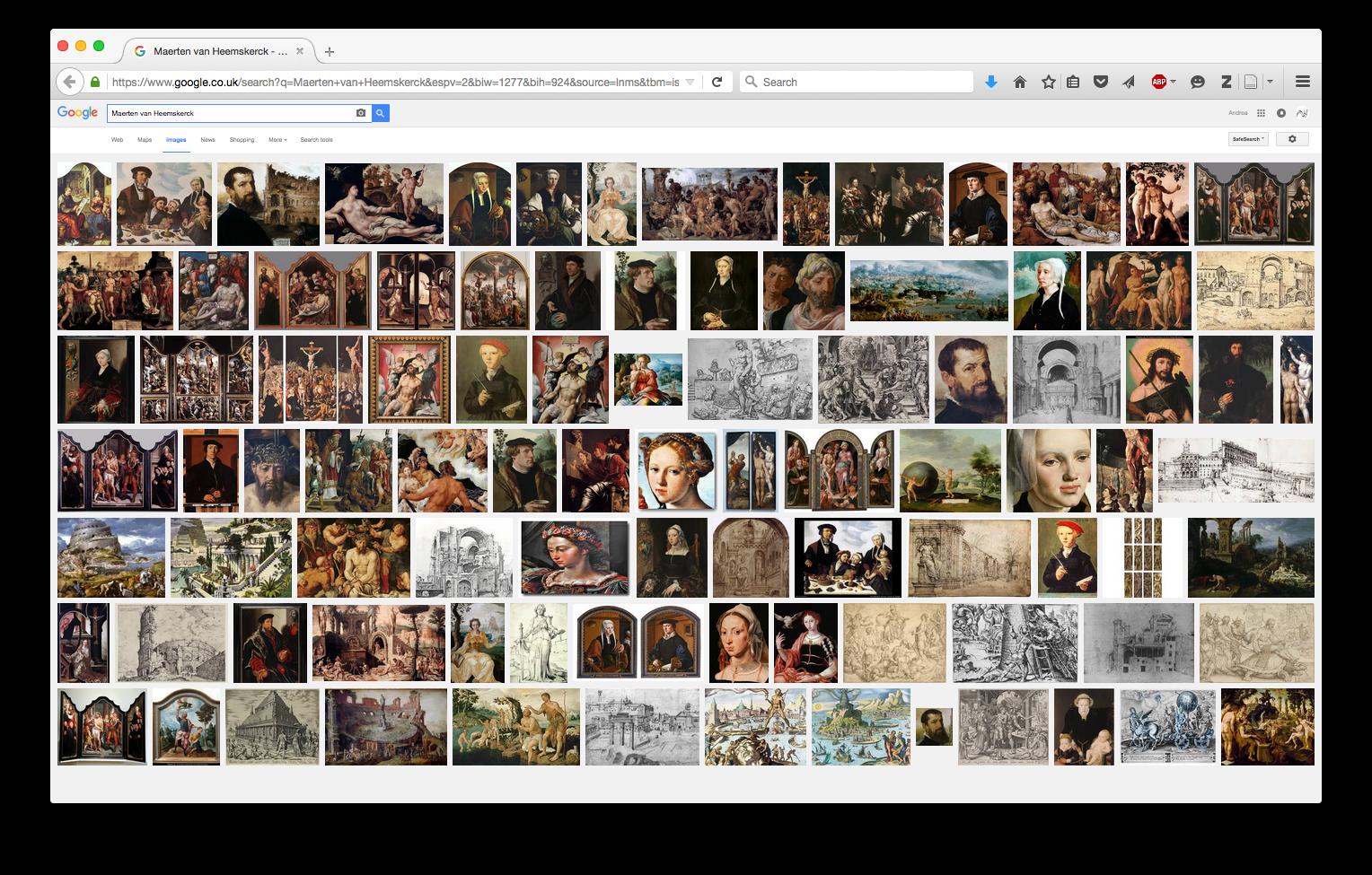 Google Image Search, Maerten van Heemskerck