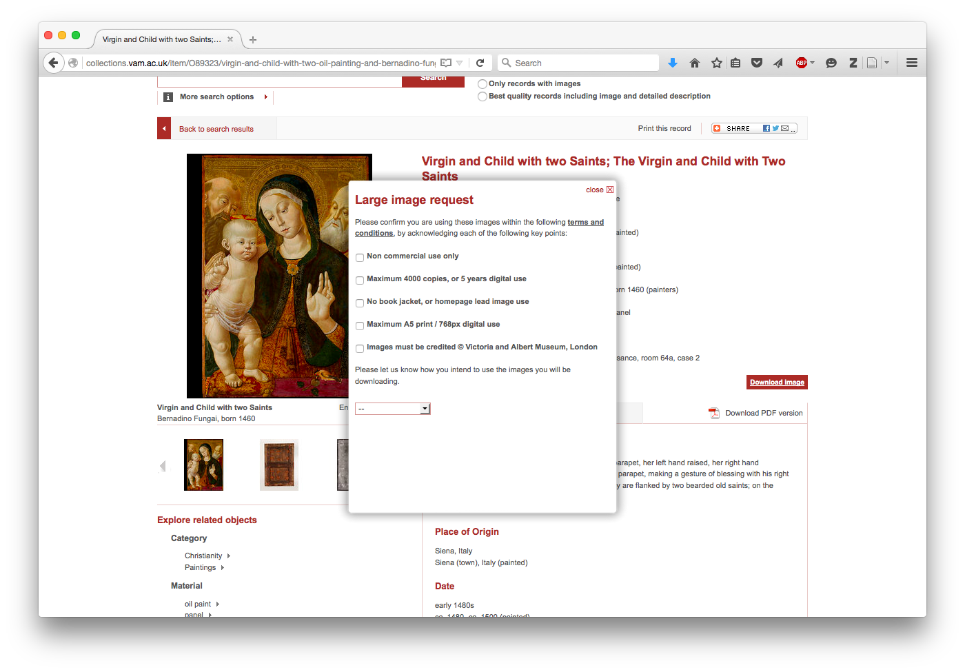 Victoria and Albert, Search the Collections, Fungai, Virgin and Child